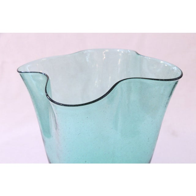 Hand Blown Vintage Blenko Glass Vase - Image 3 of 3
