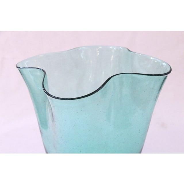 Image of Hand Blown Vintage Blenko Glass Vase