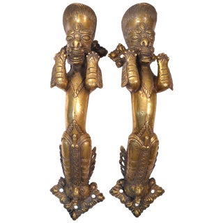 Indian Deity Door Pulls - A Pair