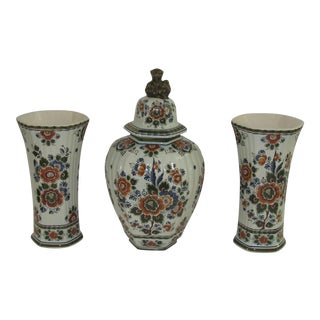 Delfthand Hand Painted Garniture Set - Set of 3