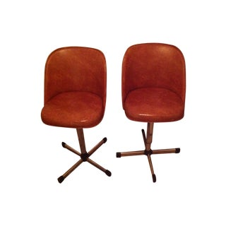 Vintage Retro Bar Stools - Pair