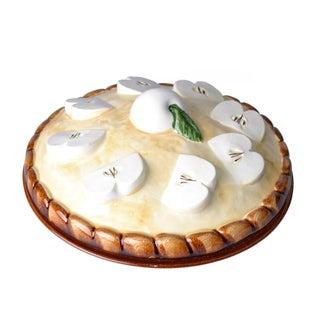 Hand Made Glazed Ceramic Apple Pie Dish