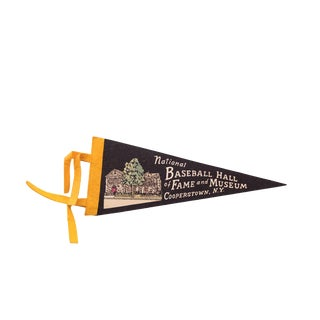 Black National Baseball Hall of Fame Cooperstown NY Felt Flag