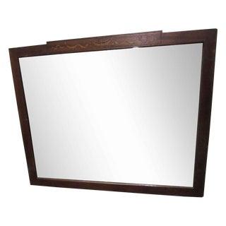 Antique Wooden Mirror With Inlaid Design