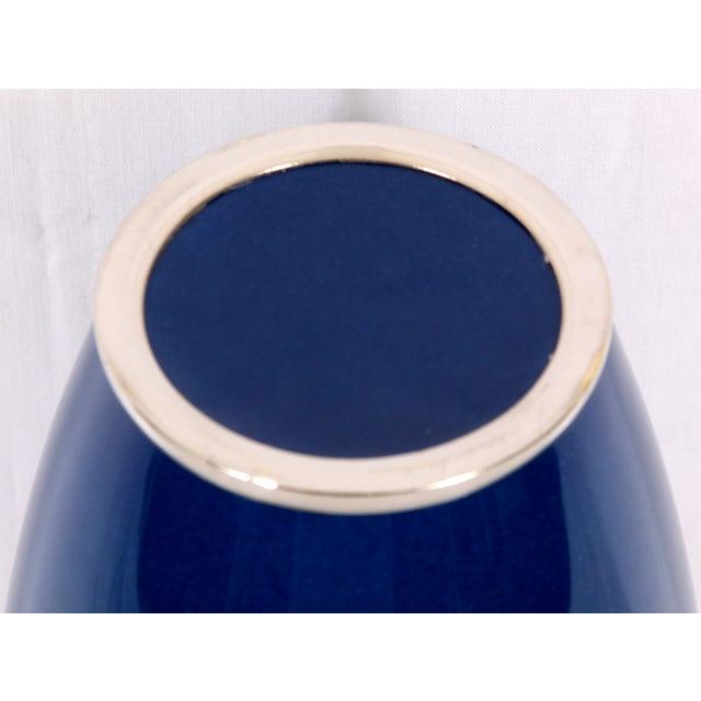 Image of Blue Japanese Enamel Vase