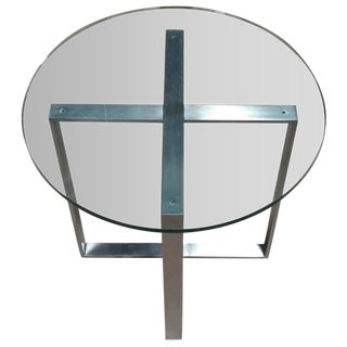 Stainless & Glass End Table