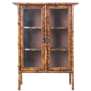 19th Century Victorian Bookcase with Glass Doors