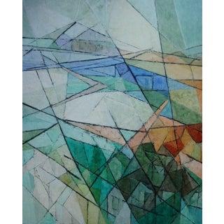 "1960s Hildegarde Haas ""Rain on the Bay"" Painting"