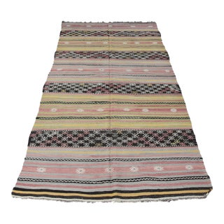 Turkish Kilim Handmade Rug - 5′4″ × 11′2″