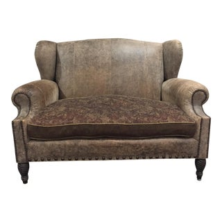 ABC Carpet & Home Leather Loveseat