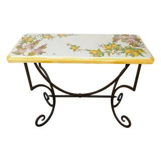 """Italian Tuscan Ceramic Console Table """"La Chimera"""""""