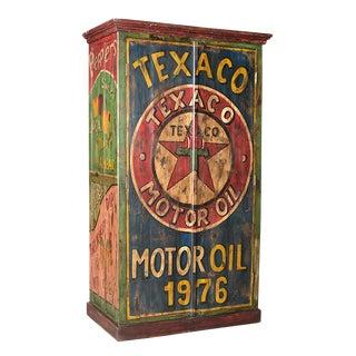 Old Teak Texaco Cabinet