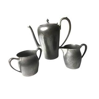Vintage Solid Pewter Coffee / Tea Set - Set of 3