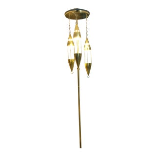 Mid-Century Brass Tension Pole Lamp