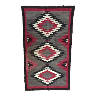 Early 1900s Crystal Style Navajo Rug - 3′ × 5′6″