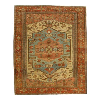 Pasargad NY Antique Serapi Hand-Knotted Rug- 9′8″ × 12′
