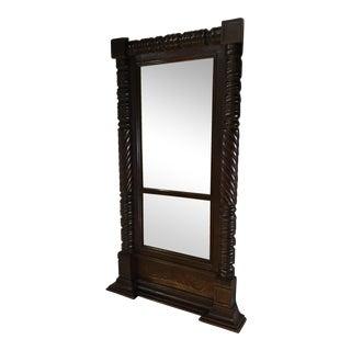 Victorian Carved Mahogany Mirror