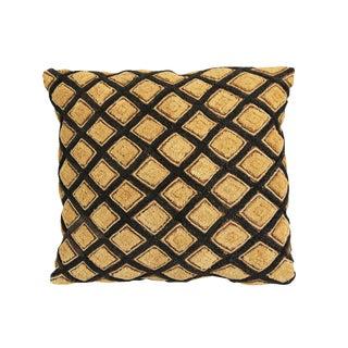 African Kuba Grass Cloth Pillow