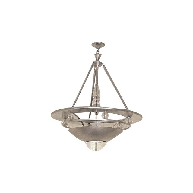 Mid-Century Modern Atomic Space Age Chandelier - Image 1 of 4