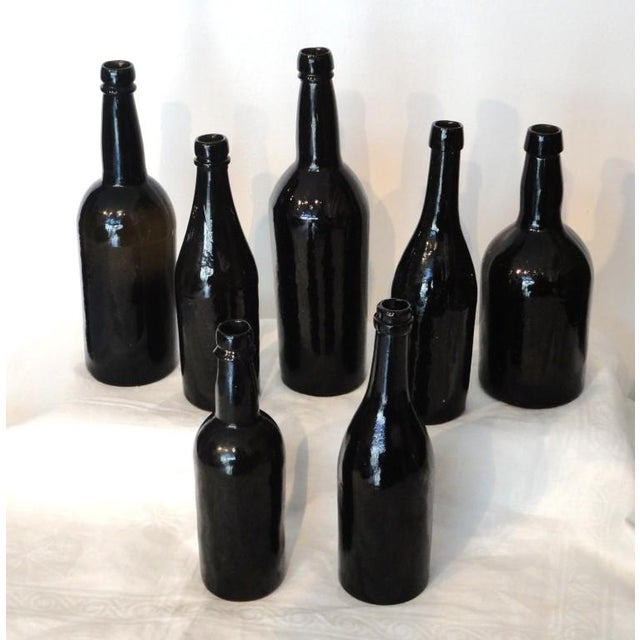 Fantastic Early 19thc Collection of Olive Green Bitters Bottles - Image 5 of 9