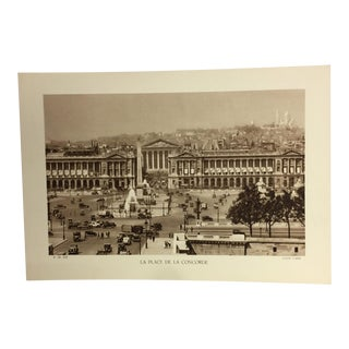 1933 La Place De La Concorde Paris