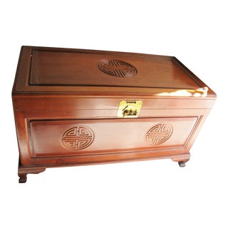 Mid-Century Rosewood Long Life Happiness Trunk