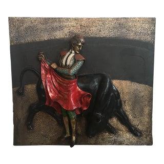 Mid-Century Spanish Matador Wall Sculpture
