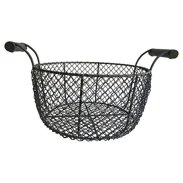 Image of French Country Harvest Wire Basket