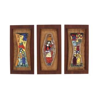 Set of Three Framed Art Tiles
