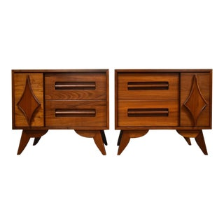 Young Furniture Walnut Nightstands - A Pair