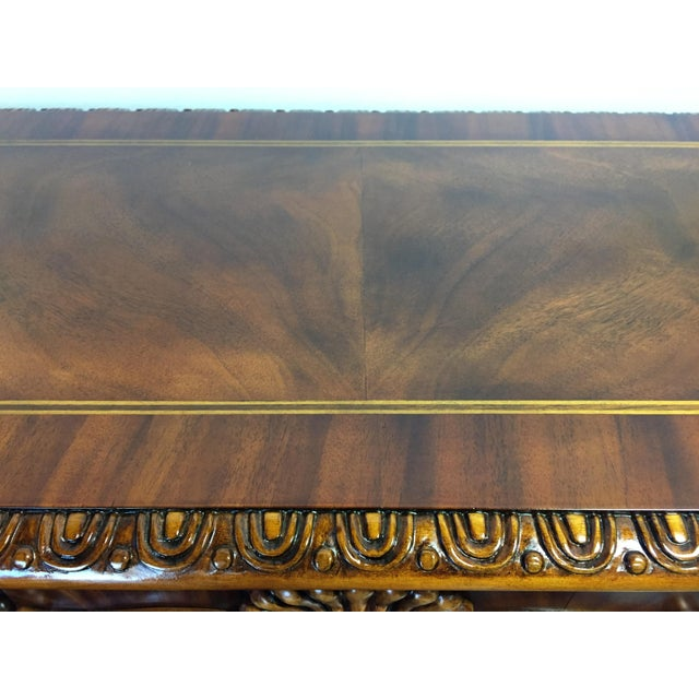 Chippendale Mahogany Inlaid Console Sofa Table - Image 10 of 11