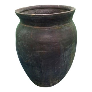 Japanese Rustic Clay Urn