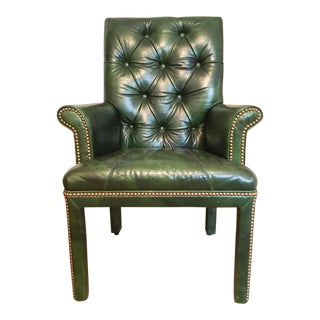 Michael Thomas Emerald Leather Armchair