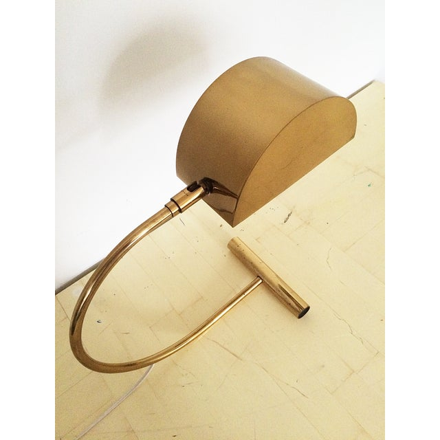 Koch and Lowy Brass Demilune Table Lamp - Image 10 of 11