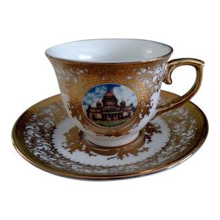 Russian Tea Cup & Saucer