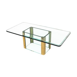 Modern Pace Brass Regency Coffee Table