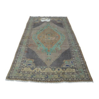 """Oushak Antique Handwoven Carpet - 55"""" x 104"""""""