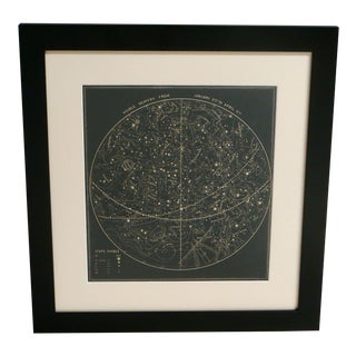 19th Century Visible January Sky Map