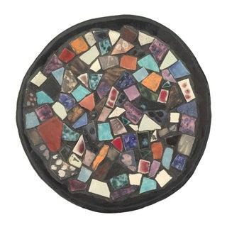 Vintage 1980s Studio Pottery Ceramic Mosaic Plate