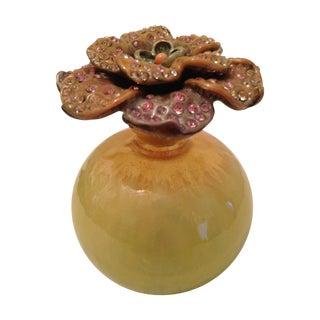 Jay Strongwater Flower Perfume Bottle