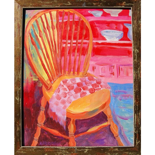 Image of Orange Chair Acrylic Painting