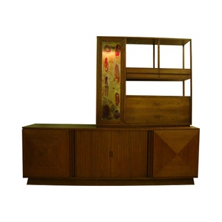 MCM Buffet & China Top With Drop Down Bar