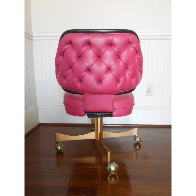 Pink Tufted Swivel Chair - Image 5 of 10