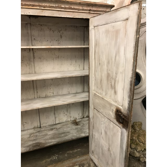 Antique Provincial Painted Italian Armoire - Image 5 of 6