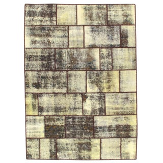Pasargad N Y Patch-Work Decorative Hand-Knotted Area Rug - 5' X 7'