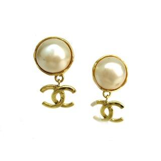 Chanel Pearl Clip-On Earrings
