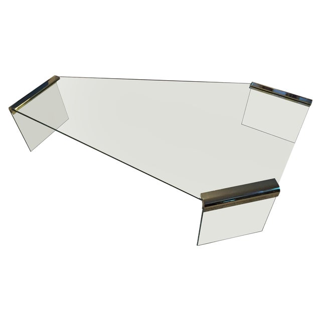 Leon Rosen Pace Collection Glass Coffee Table - Image 1 of 8