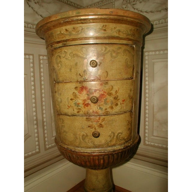 Picie Italian Hand Painted 19th C. Pedestal Table - Image 4 of 10