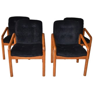 1970s Oak Dining Chairs - Set of 4