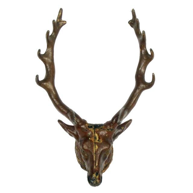 Antique Cast Iron Deer Hook - Image 1 of 6